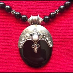 Jewelry - Onyx & Silver Necklace